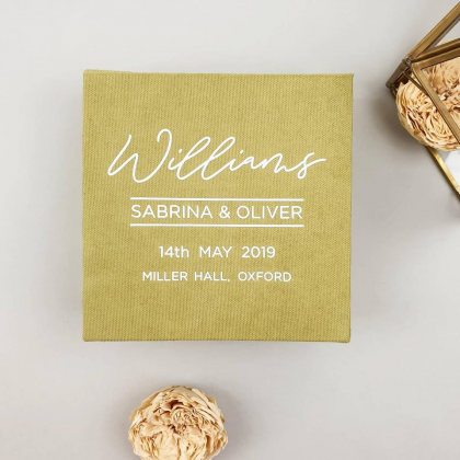 """Wedding rings box """"SABRINA"""" with paper vows cards and wedding rings pillow"""