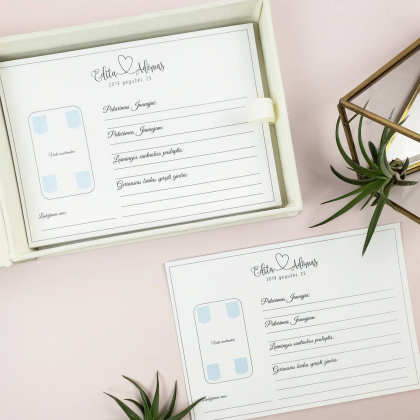 """Personalized Wedding box with guest advice cards, Wedding mad libs in box """"DILANI"""""""