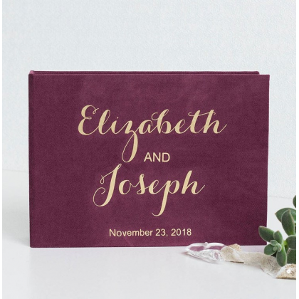 """Personalized Wedding box with guest advice cards, Wedding mad libs in box """"ELIZABETH"""""""