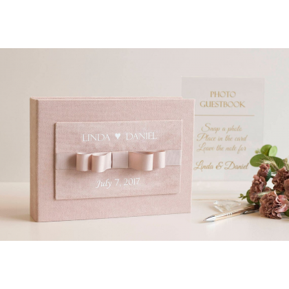 """Personalized Wedding box with guest advice cards, Wedding mad libs in box """"ISABELLA"""""""