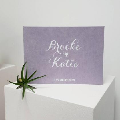 """Personalized Wedding box with guest advice cards, Wedding mad libs in box """"BROOKE"""""""