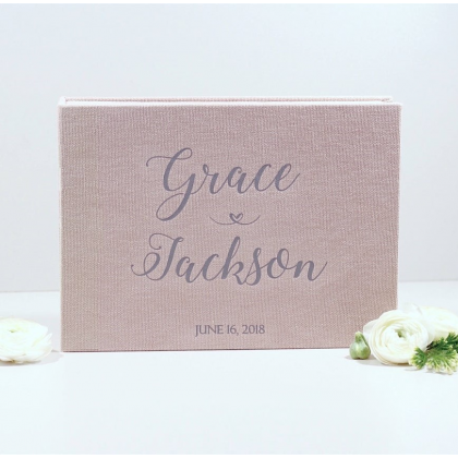 """Personalized Wedding box with guest advice cards, Wedding mad libs in box """"JADA"""""""