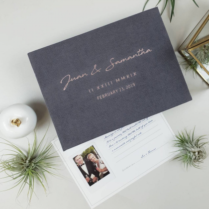 """Personalized Wedding box with guest advice cards, Wedding mad libs in box """"KELLY"""""""