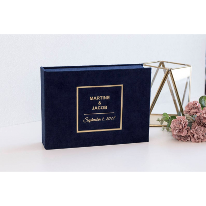 """Personalized Wedding box with guest advice cards, Wedding mad libs in box """"ERIN"""""""