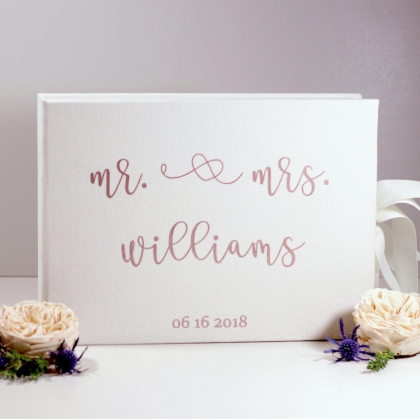 """Personalized Wedding box with guest advice cards, Wedding mad libs in box """"MR & MRS"""""""