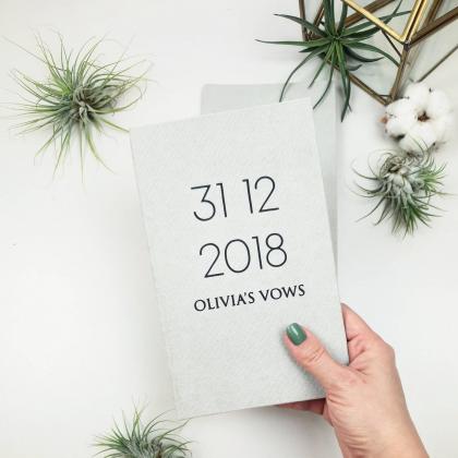 """Personalizuotos vestuvių priesaikų/įžadų knygutės """"OLIVIA"""". 2 vnt."""