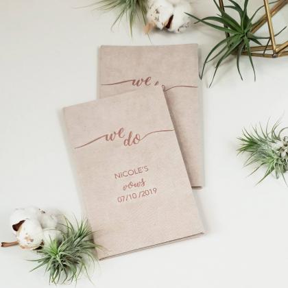 """Personalizuotos vestuvių priesaikų/įžadų knygutės """"WE DO"""". 2 vnt."""
