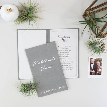 """Personalizuotos vestuvių priesaikų/įžadų knygutės """"KLOE"""". 2 vnt."""