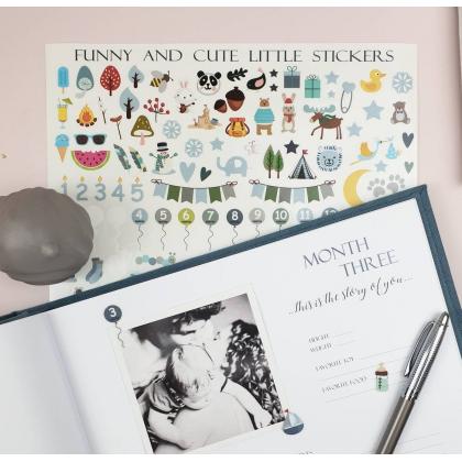 Vaikiški lipdukai pirmajai vaiko knygai