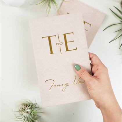 """Personalizuotos vestuvių priesaikų/įžadų knygutės """"EMILY"""". 2 vnt."""