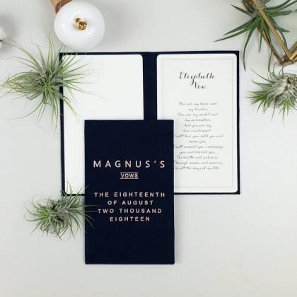 """Personalizuotos vestuvių priesaikų/įžadų knygutės """"ANGELA"""". 2 vnt."""