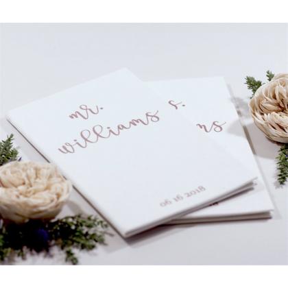 """Personalizuotos vestuvių priesaikų/įžadų knygutės """"WILLIAMS"""". 2 vnt."""