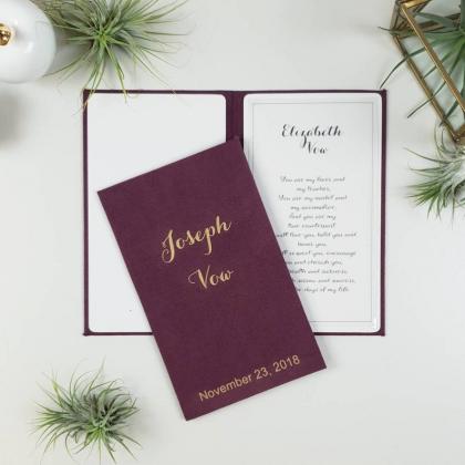 """Personalizuotos vestuvių priesaikų/įžadų knygutės """"ELIZABETH"""". 2 vnt."""