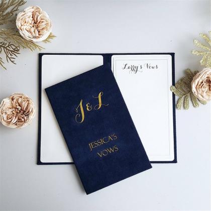 """Personalizuotos vestuvių priesaikų/įžadų knygutės """"JESSICA"""". 2 vnt."""