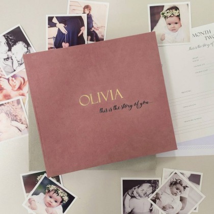 """Modern First Baby Memory Book """"OLIVIA"""""""
