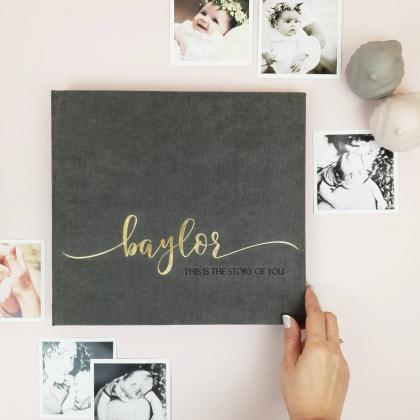 "Modern First Baby Memory Book ""BAYLOR"""