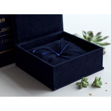 """Wedding rings box """"ANGELA"""" with paper vows cards and wedding rings pillow"""